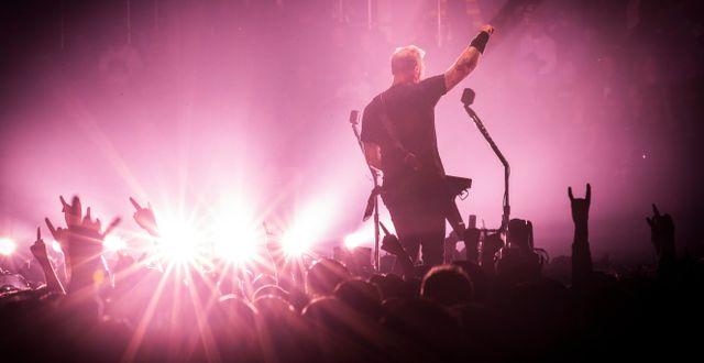 Illustrationsbild. Metallica-spelning på Telenor Arena, 2018.  Heiko Junge / TT NYHETSBYRÅN