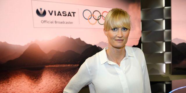 Carolina Klüft har varit expert under Viasats sändningar.  Maja Suslin/TT / TT NYHETSBYRÅN