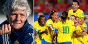 Pia Sundhage / Brasiliens landslag under årets VM.  Bildbyrån