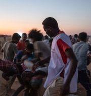 Bild från läger i Sudan.  Nariman El-Mofty / TT NYHETSBYRÅN