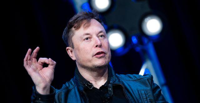 Teslas grundare Elon Musk. BRENDAN SMIALOWSKI / TT NYHETSBYRÅN