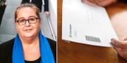 Rikskronofogde Christina Gellerbrant Hagberg/Brev från Kronofogdemyndigheten. Pressbild