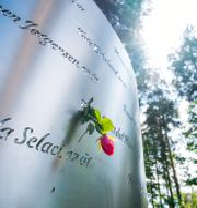 Minnesmonument över de som dödades på Utøya.  Håkon Mosvold Larsen / TT NYHETSBYRÅN