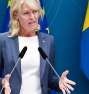 Utrikeshandelsminister Anna Hallberg (S).  Jessica Gow/TT / TT NYHETSBYRÅN