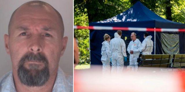 Vadim Sokolovs passbild/polisens tekniker i Berlin efter mordet. TT