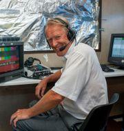 Göran Zachrisson kommenterar golf år 2003. Christer Hoglund / TT NYHETSBYRÅN
