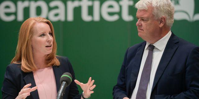 Annie Lööf (C) och Michael Arthursson (C). Janerik Henriksson/TT / TT NYHETSBYRÅN