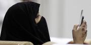 Appen har gjort det svårare för kvinnor att fly sina familjer.  Foto:Hassan Ammar/AP/TT