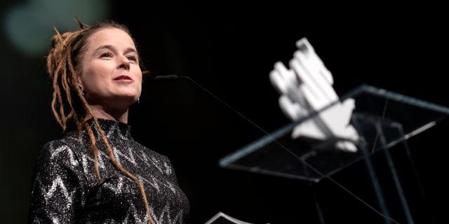 Kulturminister Amanda Lind.  Björn Larsson Rosvall/TT / TT NYHETSBYRÅN