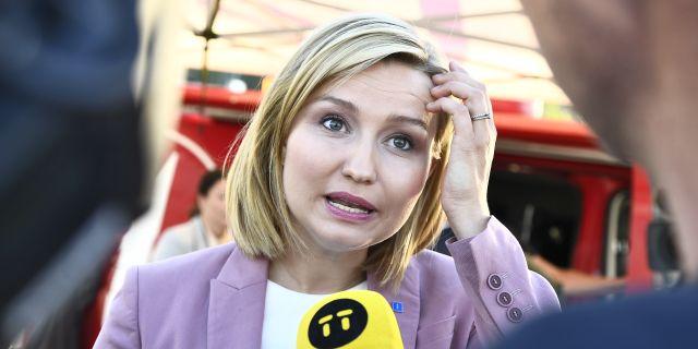Kristdemokraternas partiledare Ebba Busch Thor.  Claudio Bresciani/TT / TT NYHETSBYRÅN
