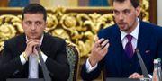 Zelenskyj och Hontjaruk. SERGEI SUPINSKY / AFP
