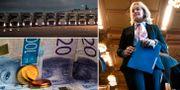 Till höger: Handelsbankens vd Carina Åkerström. TT