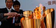 Den olympiska elden har nått Japan. PHILIP FONG / TT NYHETSBYRÅN
