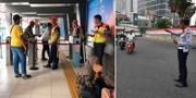 En avstängd tågstation i Jakarta samt en trafikpolis som fick rycka in när alla trafikljus slocknade. TT