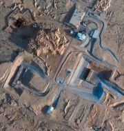 Byggarbeten som pågår intill Shimon Peres Negev Nuclear Research Center.  TT NYHETSBYRÅN