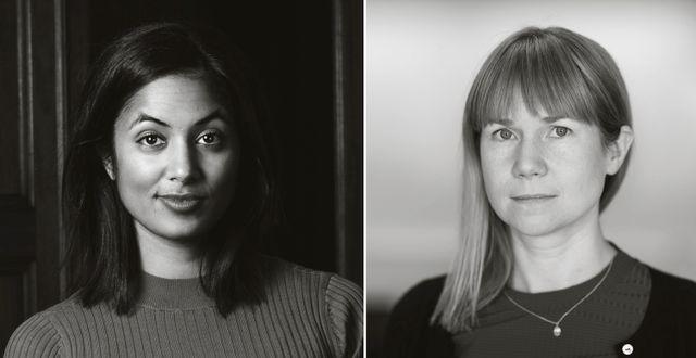 Amanda Lundeteg och Johanna Rickne.