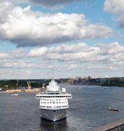 Birka Cruises fartyg M/S Birka Stockholm anländer till hamnen vid Slussen.  Henrik Montgomery/TT / TT NYHETSBYRÅN