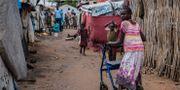Internflyktingar i Sydsudan, Juba, 2017. STEFANIE GLINSKI / AFP