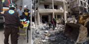 Bilder från Idlib. TT