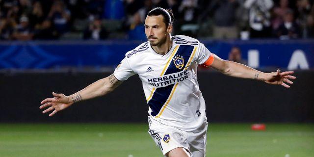 Zlatan Ibrahimovic spelar för Los Angeles Galaxy.  Marcio Jose Sanchez / TT NYHETSBYRÅN/ NTB Scanpix