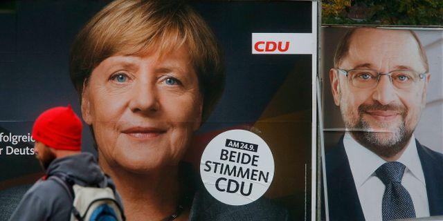 Angela Merkel/Martin Schulz. Michael Probst / TT / NTB Scanpix