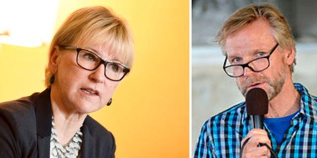 Margot Wallström och Tomas Ramberg. TT