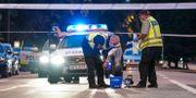 Polisens tekniker efter dödsskjutningen. Johan Nilsson/TT / TT NYHETSBYRÅN