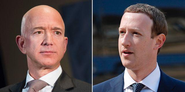 Jeff Bezos och Mark Zuckerberg.