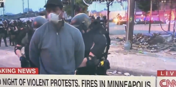 CNN:s reporter Omar Jimenez. Skärmdump CNN