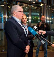 Anders Opedal intervjuas efter sitt vd-tillträde under hösten 2020.  Carina Johansen / TT NYHETSBYRÅN