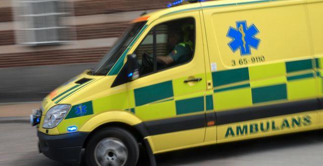 En ambulans/arkivbild.  Johan Nilsson/TT / TT NYHETSBYRÅN