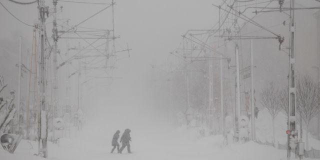 Arkivbild från snöovädret i Sundsvall den 1 februari  Mats Andersson / TT / TT NYHETSBYRÅN