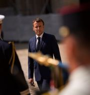 Emmanuel Macron. Daniel Cole / TT NYHETSBYRÅN
