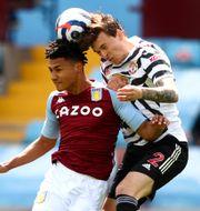 Uniteds svenske back Victor Nilsson Lindelöf i söndagens seger mot Aston Villa. Michael Steele / TT NYHETSBYRÅN