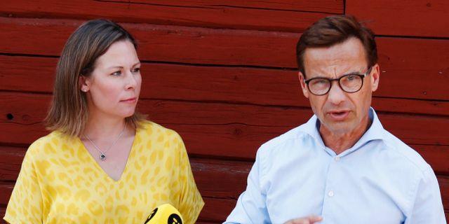 Maria Malmer Stenergard och Ulf Kristersson.  PÄR FREDIN/TT / TT NYHETSBYRÅN