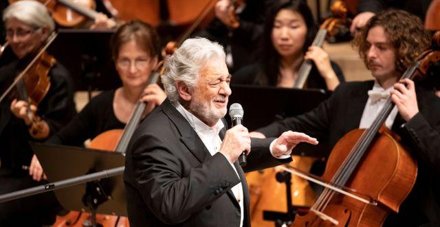 Plácido Domingo under en konsert i Hamburg 27 november. Christian Charisius / TT NYHETSBYRÅN