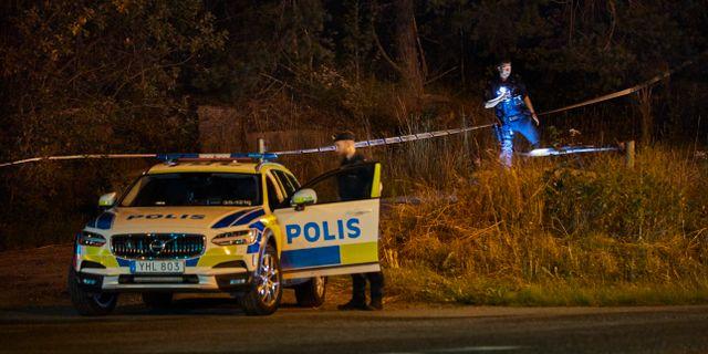 Polisen vid mordplatsen. Arkivbild..  Fredrik Persson /TT / TT NYHETSBYRÅN