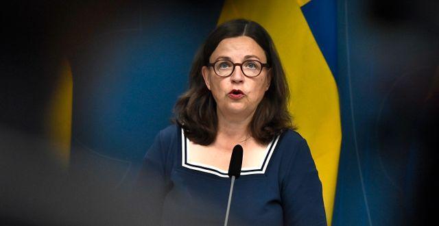 Anna Ekström (S). Claudio Bresciani/TT / TT NYHETSBYRÅN