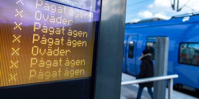 Stationen i Ystad i går.  Johan Nilsson/TT / TT NYHETSBYRÅN
