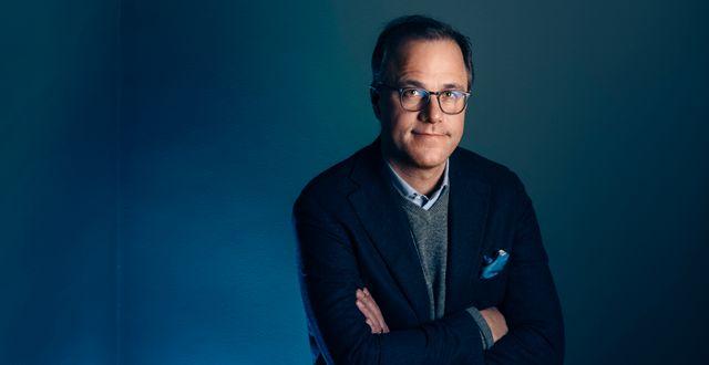Martin Wallin, förvaltare av Sverigefonden Lannebo Sverige Plus. Mikael Sjöberg