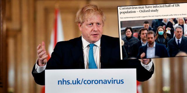 Boris Johnson/modellen från Oxford omskrivs i Financial Times. Leon Neal / TT NYHETSBYRÅN