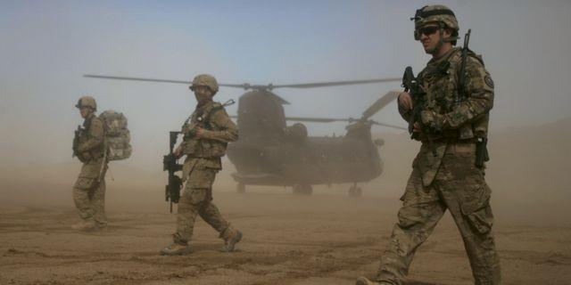Amerikanska soldater i en Nato-ledd styrka, bilden är från 2012.  Hoshang Hashimi / TT NYHETSBYRÅN
