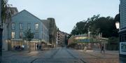 """Bild av det vinnande bidraget """"Haga hjärta Linné"""" Göteborgs stad"""