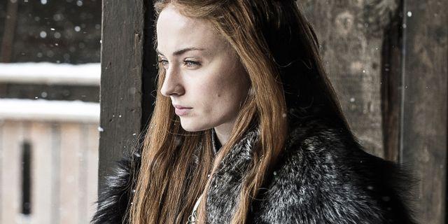 Sophie Turner spelar Sansa Stark. Helen Sloan / TT NYHETSBYRÅN/ NTB Scanpix