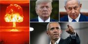 Donald Trump, Benjamin Netanyahu och Barack Obama är alla nyckelfigurer i händelserna som lett fram till dagens situation. TT