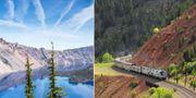 Tåget är både miljövänligt och ger möjligheter att kombinera sol och bad med storstad. Amtrak