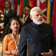 New York, NY - September 24, 2019: Prime Minister of India Narendra Modi attends luncheon hosted by Secretary-General during 74th General Assembly at UN Headquarters Shutterstock