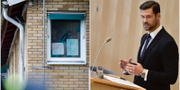 Migrationsverkets förvar i Kållered samt Johan Forssell (M). TT Nyhetsbyrån