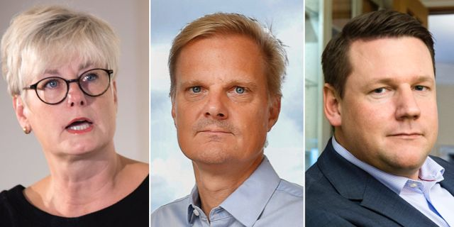 Marie Linder, Jens Henriksson och Tobias Baudin TT