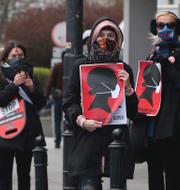 Bea Szenfeld/Aborträttsaktivister i Polen/Cissi Wallin.  TT